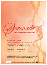 Serenade exhibition & concert this Friday in Notting Hill