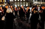 Chernobyl 25 candlelight event in Nottingham Market Square