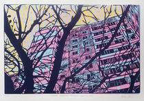 Linocut print - 45 x 30cm - 2013